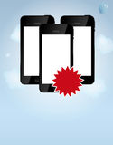 Template for smart phone and mobile phone company Royalty Free Stock Photo