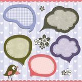 Template speak bubbles, vector Royalty Free Stock Images