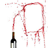 Template of splashing red wine Royalty Free Stock Image