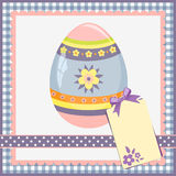 Template for spring easter postcard Stock Images