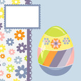 Template for spring easter postcard Royalty Free Stock Photo