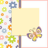 Template for spring easter postcard Stock Photo
