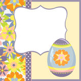 Template for spring easter postcard Stock Image