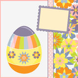 Template for spring easter postcard Royalty Free Stock Images