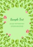 Template Spring flyer vector illustration
