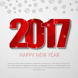 Template square banner background Happy New Year 2017 Stock Image