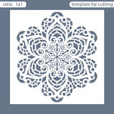 Template square greeting cards laser cut. Suitable for wedding invitations. Template greeting card for cutting plotter. Abstract r vector illustration