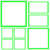 Template with squares Stock Photography