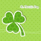 Template St. Patrick's day greeting card Stock Photo