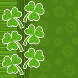 Template St. Patrick's day greeting card Royalty Free Stock Image