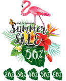 Template for summer sale Advertisement Stock Photo