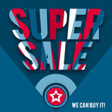 Template of super sale in American style Stock Photo