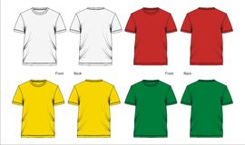 Template t shirt, vectors Royalty Free Stock Photo