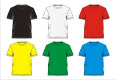 03. Template T shirt blank, . Stock Photography
