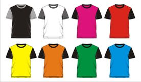 06. Template T shirt blank, . T shirt template blank combination colorful, screen printing vector illustration
