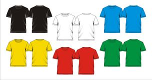 T shirt template blank, vectors Royalty Free Stock Images