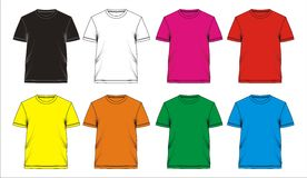 Template T shirt blank, vectors Royalty Free Stock Image