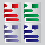 Template tab options banners Royalty Free Stock Photos
