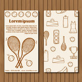 Template for tennis booklet, card of flyer with Stock Photos