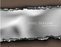 Template for the text from the metall background Stock Images