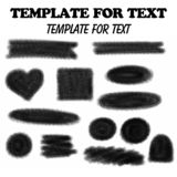Template for text vector illustration