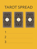 Template for three tarot card spread vector illustration