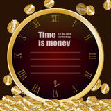 Template of time is money Royalty Free Stock Photography