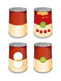 Template tin can tomato soup Stock Photo