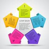 Business project with arrows and text areas Stock Photos