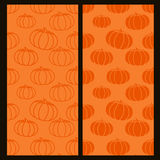 Template with two versions of the pumpkin. Eps 10 Royalty Free Stock Photos
