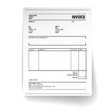 Template of unfill paper tax invoice form Royalty Free Stock Photos
