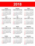 USA calendar grid in vector Stock Images