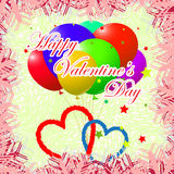 Template valentine day card Royalty Free Stock Photography