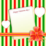 Template Valentine greeting card Stock Photo