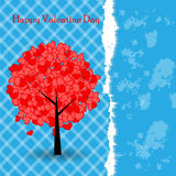 Template Valentine greeting card Royalty Free Stock Photography