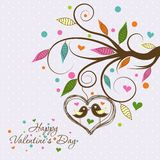 Template Valentine greeting card, vector Stock Photo