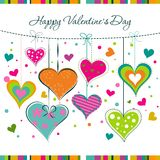 Template Valentine greeting card, vector Stock Photos