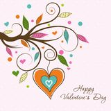 Template Valentine greeting card, vector Stock Images