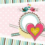 Template Valentine greeting card, vector Royalty Free Stock Photography