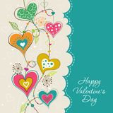 Template Valentine greeting card, vector Stock Image
