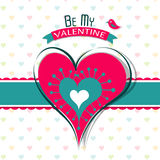 Template Valentine greeting card, vector Royalty Free Stock Image