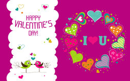 Template Valentine greeting card, vector Royalty Free Stock Photos
