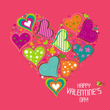 Template Valentine greeting card, vector Stock Photography