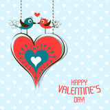 Template Valentine greeting card, vector Royalty Free Stock Images