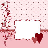 Template for Valentine or Wedding greetings card Stock Image