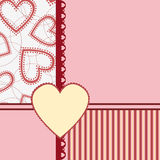 Template for Valentine or Wedding greetings card Royalty Free Stock Photo