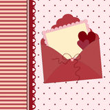 Template for Valentine or Wedding greetings card Royalty Free Stock Images