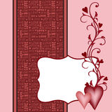 Template for Valentine or Wedding greetings card Stock Photos