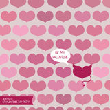 Template for valentine's day party with one devil heart Stock Photo