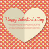 Template Valentines Day Greeting Card Design Stock Image